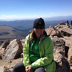 At the summit - 14,060'!